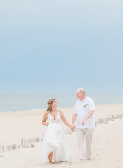 Lewis & Gina at The Village Beach Club // Outer Banks Wedding Photographer